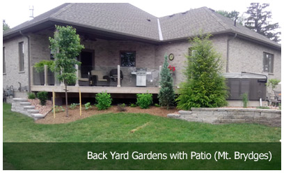 Back Yard Gardens with Patio (Mt. Brydges)