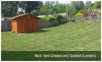 Back Yard Graded and Sodded (London)