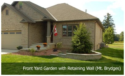 Front Yard Garden with Retaining Wall (Mt. Brydges)