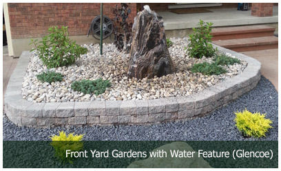 Front Yard Gardens with Water Feature (Glencoe)