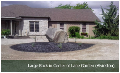 Large Rock in Center of Lane Garden (Alvinston)