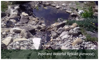 Pond and Waterfall Rebuild (Kerwood)