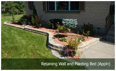 Retaining Wall and Planting Bed (Appin)