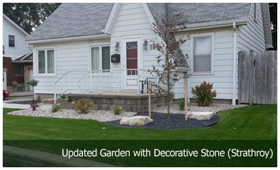 Updated Garden with Decorative Stone (Strathroy)